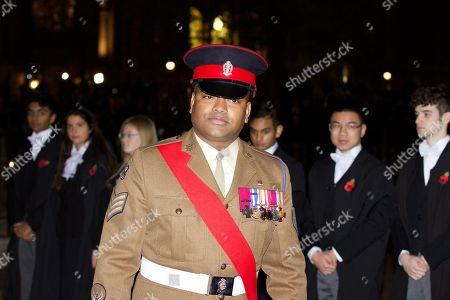 Johnson Beharry with his Victoria Cross