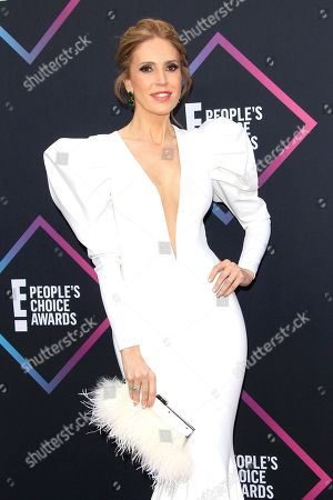 Colombian model Alejandra Azcarate arriving for the 2018 People's Choice Awards at Barker Hangar in Santa Monica, California, USA, 11 November 2018.