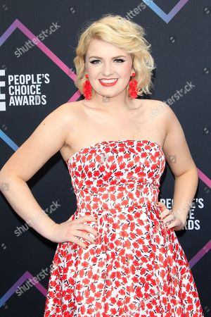 Maddie Poppe arriving for the 2018 People's Choice Awards at Barker Hangar in Santa Monica, California, USA, 11 November 2018.