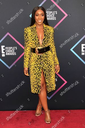 Stock Picture of US beauty YouTuber Jackie Aina arriving for the 2018 People's Choice Awards at Barker Hangar in Santa Monica, California, USA, 11 November 2018.