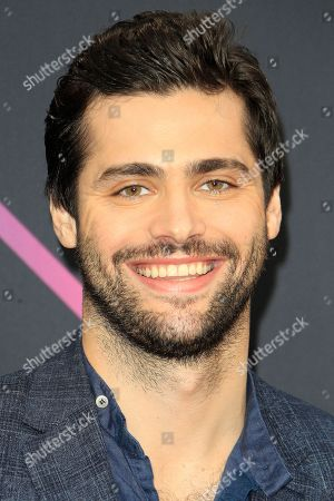 Stock Picture of Matthew Daddario arriving for the 2018 People's Choice Awards at Barker Hangar in Santa Monica, California, USA, 11 November 2018.