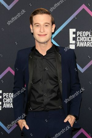 US personality Tyler Henry arriving for the 2018 People's Choice Awards at Barker Hangar in Santa Monica, California, USA, 11 November 2018.