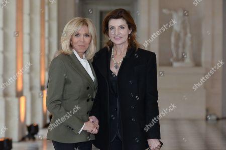 Brigitte Trogneux and Maryna Poroshenko, wife of Ukrainian President Petro Poroshenko.