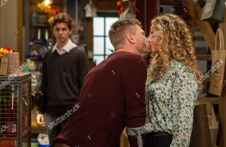 Ep 8316 Monday 19th November 2018 Maya, as played by Louisa Klein, tries to reason with Jacob Gallagher, as played by Joe Warren Plant, but later when she and David Metcalfes, as played by Matthew Wolfenden, kiss, Jacob is jealous and tells them he's dating Liv and lies he is having sex with her.
