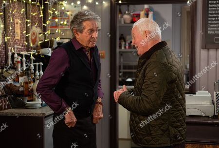 Ep 8324 Wednesday 28th November 2018 Pollard, as played by Chris Chittell, comes up with a plan and Rodney Blackstock, as played by Patrick Mower, fakes an illness. Will Faith soon be on to the pair?