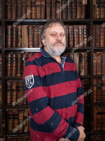 Editorial image of Professor Slavoj Zizek at Oxford Union, UK - 09 Nov 2018
