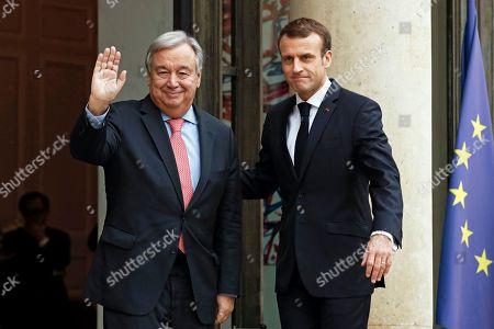 UN Secretary General Antonio Guterres visit to Paris