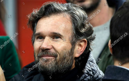 Carlo Cracco attends a Serie A soccer match between AC Milan and Juventus, at the San Siro stadium in Milan, Italy