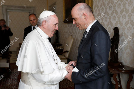 Swiss Federal President audience with the Pope, Vatican City