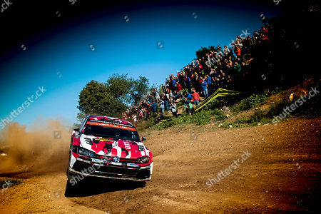Petter Solberg of Norway drives his Volkswagen Polo GTI R5 during the shakedown of the Rally of Spain 2018 as part of the World Rally Championship (WRC) in Barcelona, Spain, 25 October 2018.
