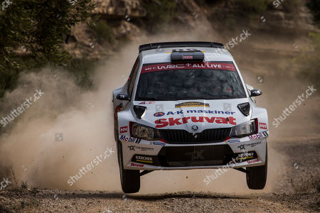 Petter Solberg  of Norway drives his VOLKSWAGEN Polo GTI R5 during day 2 of Rally of Spain 2018 as part of the World Rally Championship (WRC) in Barcelona, Spain, 26 October 2018.