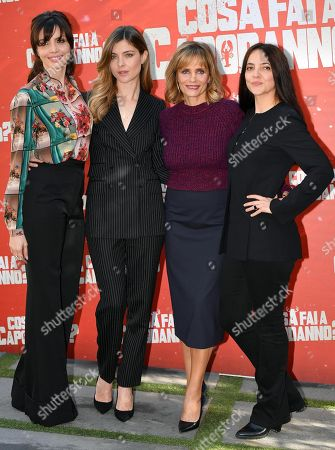 Ilenia Pastorelli, Vittoria Puccini, Isabella Ferrari and Arianna Ninchi pose during the photocall for 'Cosa fai a Capodanno?' (lit.: What do you do on New Year's Day?) in Rome, Italy, 12 November 2018. The movie opens in Italian theaters on 15 November.