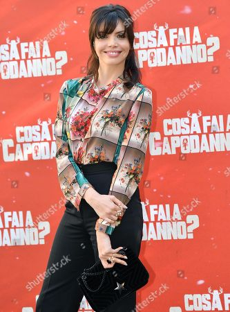 Ilenia Pastorelli poses during the photocall for 'Cosa fai a Capodanno?' (lit.: What do you do on New Year's Day?) in Rome, Italy, 12 November 2018. The movie opens in Italian theaters on 15 November.