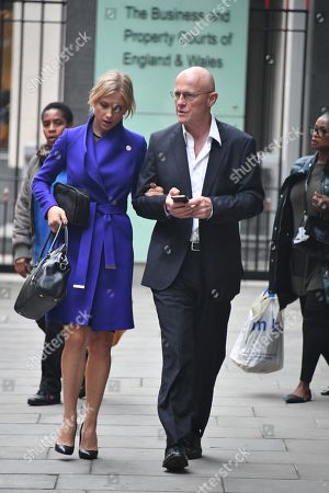 John Caudwell  Phones4u Founder John Caudwell Leaves The High Court Rolls Building In London With His Girlfriend ( Modesta Vzesniauskaite ) After The Second Day Of His Legal Battle Against Former Employee Nathalie Dauriac-stoebe  181017