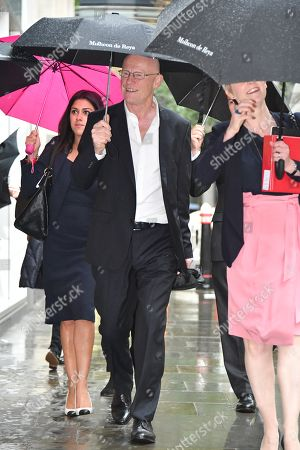 John Caudwell  Phones4u Founder John Caudwell Arrives At The High Court Rolls Building In London With A Female Entourage For The Second Day Of His Legal Battle Against Former Employee Nathalie Dauriac-stoebe  181017