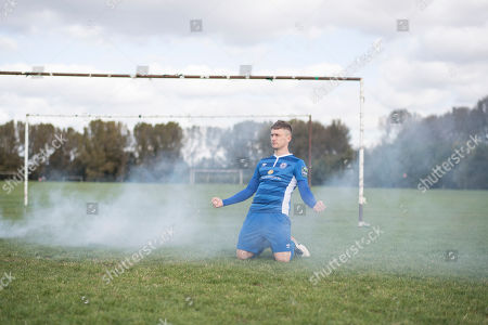 Jake Robinson. Non League Footballers Feature Photographed At Hackney Marshes London.Pic Shows Jake Robinson.