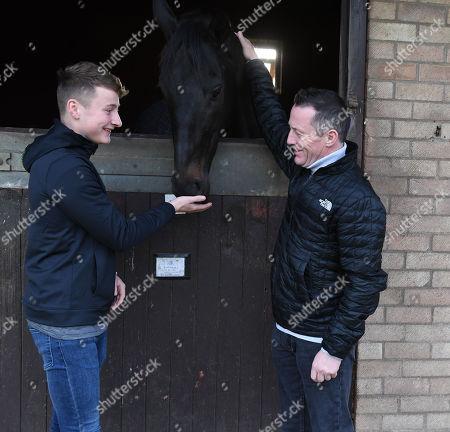 Jockey Kieren Fallon And His Son Cieren .