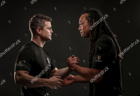 Dublin, 12th November 2018: Ahead of the most hotly anticipated game of the Guinness Series where Ireland take on New Zealand at the Aviva Stadium, Guinness has brought together former New Zealand rugby player Tana Umaga and former Irish international rugby player Brian O?Driscoll over a pint of the black stuff to spotlight the camaraderie of the sport. The pair also performed the traditional Maori Hongi, a strong symbolic show of unity between two people showing how they have put that ?spear tackle? behind them. Throughout the series, Guinness is rallying fans to #AnswerIrelandsCall and get behind the Irish Rugby team. Fans are encouraged to get involved as Guinness is giving away a number of pairs of tickets to each fixture including the sold out Ireland v New Zealand game at the Aviva Stadium. Fans should visit the Guinness Facebook page and leave their message of support using the #AnswerIrelandsCall to be in with a chance to win tickets to the Guinness Series (terms and conditions apply) *. Guinness is the official title sponsor of the Guinness Series and a proud supporter of Irish Rugby. Enjoy Guinness sensibly. Visit www.drinkaware.ie . Facebook: www.facebook.com/Guinnessireland. Twitter: @GuinnessIreland. Pictured is Brian O'Driscoll and Tana Umaga