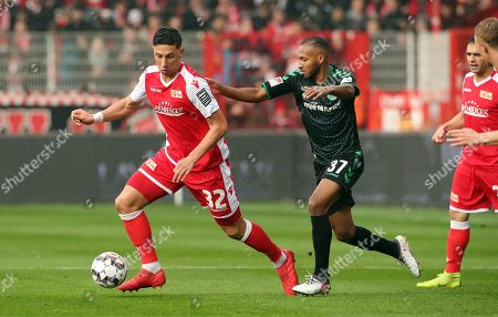 Robert Zulj, Julian Green /   /        /       / Sport / Football /   2.Bundesliga  DFL /  2018/2019 / 11.11.2018 / 1.FC Union Berlin FCU vs. SpVgg Greuther Fuerth / DFL regulations prohibit any use of photographs as image sequences and/or quasi-video. /