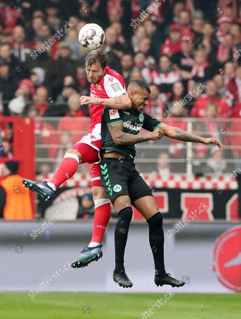 Ken Reichel, Julian Green /   /        /       / Sport / Football /   2.Bundesliga  DFL /  2018/2019 / 11.11.2018 / 1.FC Union Berlin FCU vs. SpVgg Greuther Fuerth / DFL regulations prohibit any use of photographs as image sequences and/or quasi-video. /