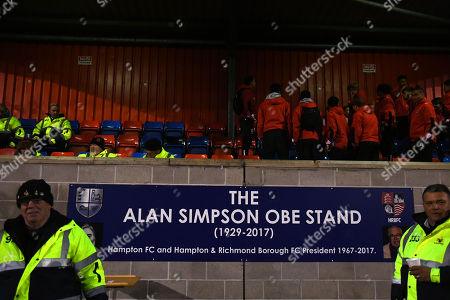 The stand named in honour of late President and comedy writer Alan Simpson