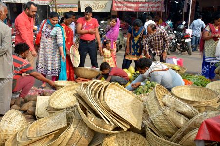 Chatt Puja festival preparations, India