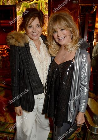 Dorrit Moussaieff and Goldie Hawn