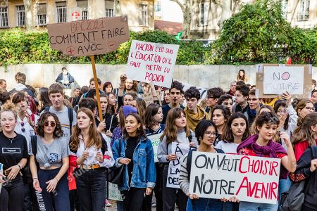 National education demonstrations, France