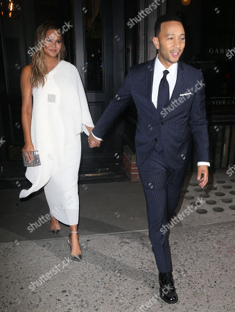 John Legend and Chrissy Teigen out and about, New York