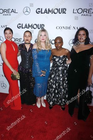 Edna Chavez, Emma Gonzalez, Jaclyn Corin, Naomi Wadler, and Sam Fuentes