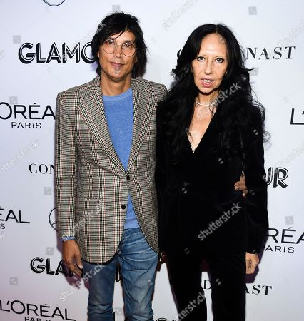 Vinoodh Matadin, Inez van Lamsweerde. Fashion photographers Inez van Lamsweerde, right, and Vinoodh Matadin attend the Glamour Women of the Year Awards at Spring Studios, in New York