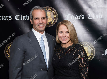 John Molner, Katie Couric. John Molner and Katie Couric attend the Friars Club Entertainment Icon Award ceremony honoring Billy Crystal at the Ziegfeld Ballroom, in New York