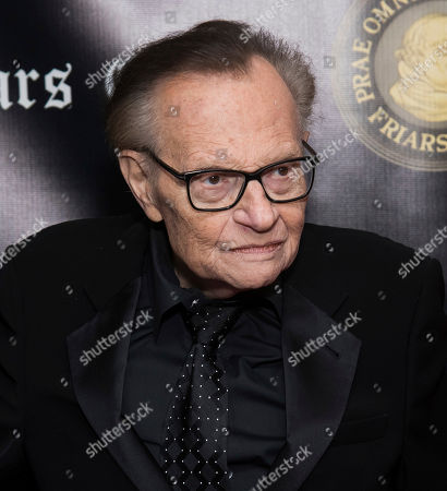 Larry King attends the Friars Club Entertainment Icon Award ceremony honoring Billy Crystal at the Ziegfeld Ballroom, in New York
