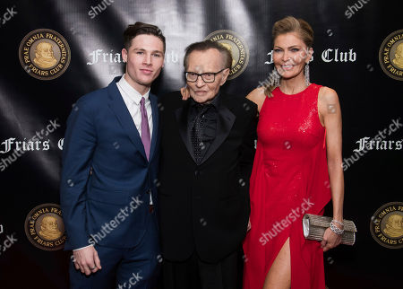 Cannon King, Larry King, Shawn Southwick. Cannon King, left, Larry King and Shawn Southwick attend the Friars Club Entertainment Icon Award ceremony honoring Billy Crystal at the Ziegfeld Ballroom, in New York