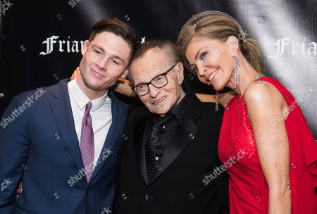 Stock Photo of Cannon King, Larry King, Shawn Southwick. Cannon King, left, Larry King and Shawn Southwick attend the Friars Club Entertainment Icon Award ceremony honoring Billy Crystal at the Ziegfeld Ballroom, in New York