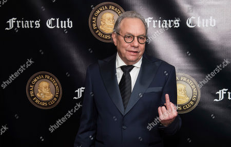 Lewis Black attends the Friars Club Entertainment Icon Award ceremony honoring Billy Crystal at the Ziegfeld Ballroom, in New York