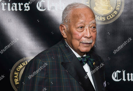 David Dinkins attends the Friars Club Entertainment Icon Award ceremony honoring Billy Crystal at the Ziegfeld Ballroom, in New York