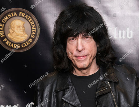 Marky Ramone attends the Friars Club Entertainment Icon Award ceremony honoring Billy Crystal at the Ziegfeld Ballroom, in New York