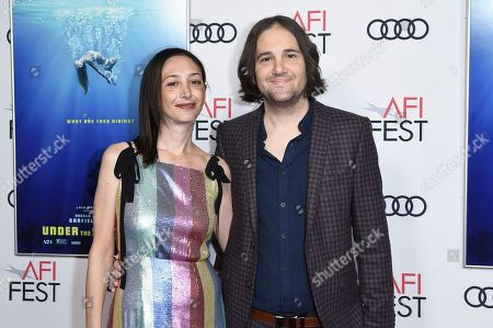 """Stock Picture of Annie Mitchell, David Robert Mitchell. Annie Mitchell, left, and David Robert Mitchell attend a special screening of """"Under the Silver Lake"""" during the 2018 AFI Fest at the Egyptian Theatre, in Los Angeles"""