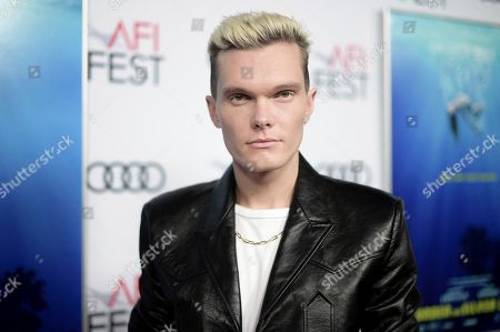 "Luke Baines attends a special screening of ""Under the Silver Lake"" during the 2018 AFI Fest at the Egyptian Theatre, in Los Angeles"