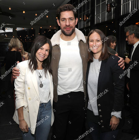 Stock Photo of Alexa Ginsburg (Producer), John Krasinski and Allyson Seeger (Producer)