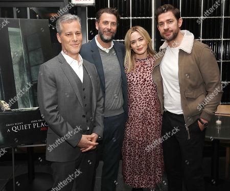 Brad Fuller, Andrew Form (Producers), Emily Blunt and John Krasinski