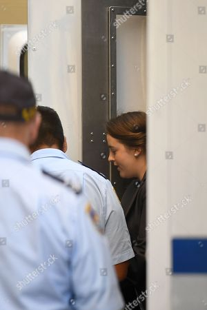 Cathrina Cahill (R) arrives for her sentence hearing at the Supreme Court in Sydney, New South Wales, Australia, 13 November 2018. Cathrina Cahill, 27, an Irish national, has pleaded guilty to the manslaughter of her fiancee, David Walsh, 29, also from Ireland. Walsh, father-of-three girls, died from a neck wound sustained at the couple's home in February last year.