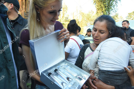 Editorial picture of Paris Hilton visits the community of San Gregorio that was affected by the earthquake, Xochimilco, Mexico - 12 Nov 2018