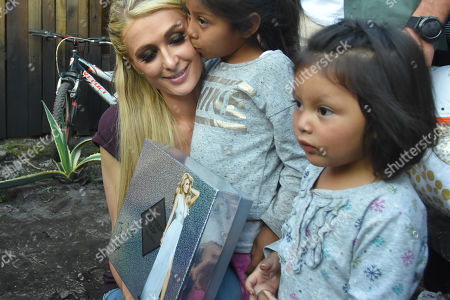 Editorial image of Paris Hilton visits the community of San Gregorio that was affected by the earthquake, Xochimilco, Mexico - 12 Nov 2018