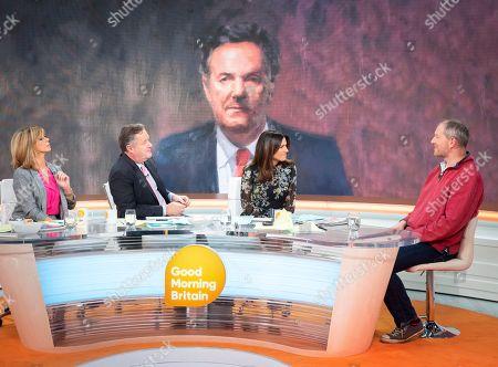 Kate Garraway, Piers Morgan and Susanna Reid with Stewart Hill