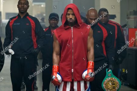 Wood Harris as Tony 'Little Duke' Burton and Michael B. Jordan as Adonis Creed