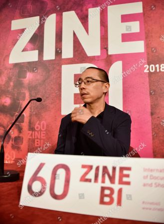 Thai film maker Apichatpong Weerasethakul attends a press conference held before receiving the Zinebi International Documentary and Short Film Festival's Mikeldi Honour Award in Bilbao, Basque Country, northern Spain, 14 November 2018. The festival takes place from 09 to 16 November.
