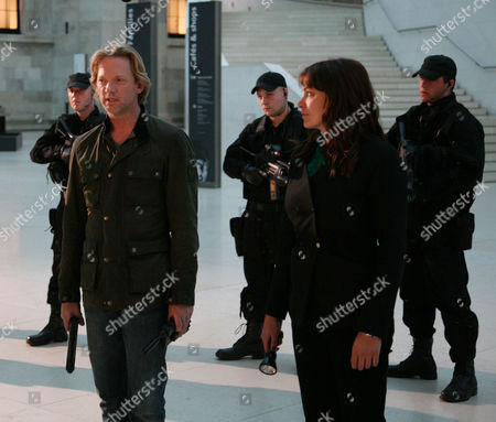 'Primeval' TV programme - Series 3: Douglas Henshall and Lucy Brown