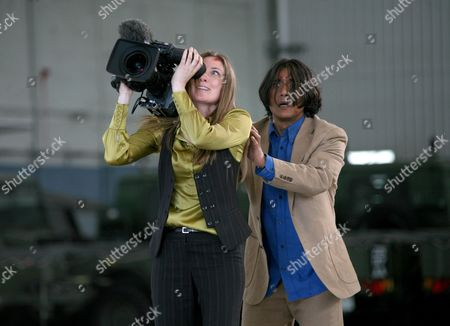 'Primeval' TV programme - Series 3: Ruth Gemmell and Ramon Tikaram